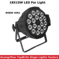 Nueva llegada 18X10 W RGBW 4IN1 Led etapa luces de alta calidad LED Par puede con DMX512 8 canales para la etapa Dj Disco luces láser