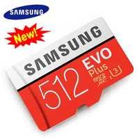 SAMSUNG Micro SD de 512 GB de tarjeta de memoria 2018 nuevo Microsd Cartao de memoria de tarjetas TF tarjeta sd de 512 gb para cámara DLSR y Smartphone