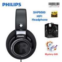 Philips SHP9500 HIFI profesional auriculares de ruido cancelación de neodimio los conductores auriculares para Xiaomi Huawei teléfono inteligente