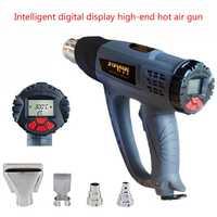 Pistola de calor soplador de aire caliente tableta pistola de calor con pantalla LCD 2000W inalámbrico pistola de calor función de memoria de Control de viento kits de pistola de aire caliente