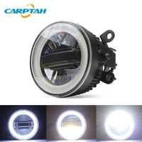 CARPTAH LED Luz de coche luces diurnas DRL 3 en 1 Funciones Auto Fog lámpara proyector bombilla para Mitsubishi Pajero Sport 2018