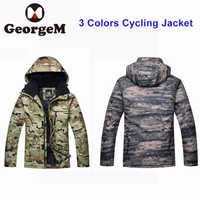 2018 nueva chaqueta de invierno hombres camuflaje chaqueta Riding bicicleta ropa impermeable a prueba de viento invierno caza chaqueta