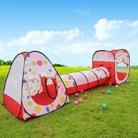 Tienda de campaña para niños con tubo de túnel de tres en uno para niños regalo ZP1003