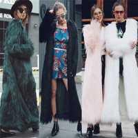 Lanshifei chica joven de abrigo de piel de zorro abrigo larga chaqueta de piel de las mujeres de invierno de 2018 nuevo diseño largo Parka estilo señora Club abrigo