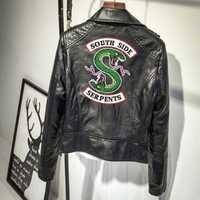 2018 Riverdale Southside Serpents Femelle Manteaux Imprimer Punk En Cuir Harley Locomotive zipper Vestes Pour Femmes Hip-Hop Streetwear