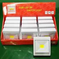 Venta al por mayor 12 Uds COB LED interruptor de luz nocturna pórtico lámpara de pared para dormitorio pasillo gabinete cocina armario luces AAA con magnético