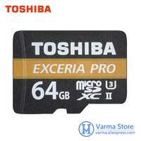 Toshiba exceria pro TF M501 memoria Micro SD UHS-II U3 64 GB Class10 4 K ultrahd de velocidad de la memoria flash tarjeta microsdxc