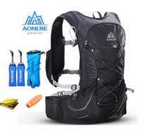 AONIJIE 15L al aire libre peso ligero hidratación mochila bolsa libre 3L vejiga de agua para senderismo Ultra Trail carrera de carrera