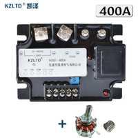 Kzltd relé de estado sólido monofásico 400A 4-20MA 0-5VDC 0-10VDC a 20-480 V módulo regulador de voltaje de CA 400A relé SSR Relais