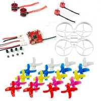 Para DIY Drone Mini 75mm Kit de marco interior sin escobillas Bwhoop Racer aviones no tripulados Combo Set F3 FC CES SE0703 Motor 40mm 4-palas de la hélice