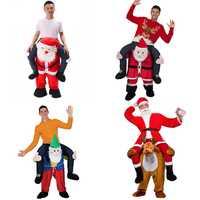 Santa Claus novedad Ride on Me traje llevar de nuevo divertido Animal caballos montar Oktoberfest Halloween partido Cosplay ropa