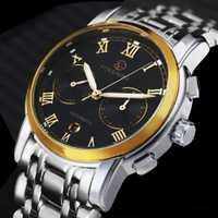 Reloj Mecánico de lujo de marca superior FORSINING para hombre, correa de acero inoxidable, reloj de pulsera clásico 2019