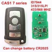 4 botones de control remoto inteligente tarjeta para BMW serie 7 CAS1 ID7944 Chip 315 315LP 433, 868 MHZ