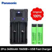 Panasonic 100% nuevo Original NCR18650B 3,7 V 3400 mAh 18650 del litio Li-ion recargable cargador rápido y mejor calidad