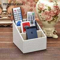 Rocky cocodrilo blanco Escritorio de control remoto caja de almacenamiento moda creativa rural europeo poner el teléfono