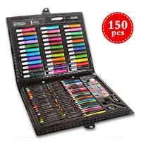150 unids/set niños lápiz de color dibujo artista pintura kit Art Marker pen set crayón pintura Cepillos herramienta de dibujo arte escuela