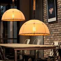 E27 de mano vintage de lámpara colgante accesorio de luces de cuerda de cáñamo pantalla E27 para cocina luz lampe deco comedor