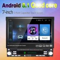 LEEWA 7 pulgadas 1DIN en dash Manumotive Ultra delgado del coche de Android 6,0 Quad Core GPS Bluetooth Navi Radio USB reproductor de medios # CA2788