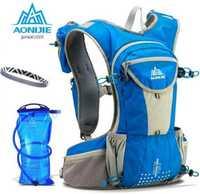 AONIJIE 12L gran capacidad deportes Running mochila Marathon Trail Running Cross Country Racing hidratación chaleco para 2L bolsa de agua