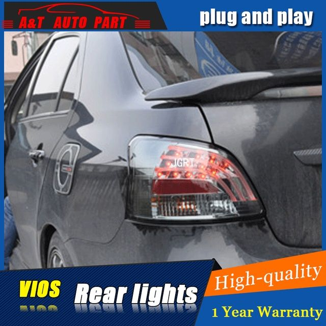 XJU US $428.00 Car styling Accessories for Toyota vios rear Lights led TailLight 2008-2012 for vios Rear Lamp DRL+Brake+Park+Signal lights led