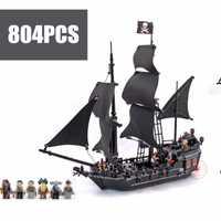 Nouveaux Pirates la perle noire fit legoings Pirates des caraïbes blocs de construction de navires briques 4184 cadeau enfant set garçon bricolage jouets