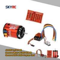 SkyRC 4000KV 8.5 T 2 P & CS60 60A moteur sans balais et ESC et LED ensemble de cartes de programme pour voiture de tourisme Buggy 1/10 1/12