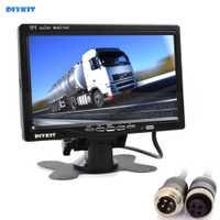DIYKIT 7 pulgadas TFT LCD Monitor en Color vista trasera Monitor de coche con 2 x 4PIN de entrada de vídeo