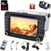 Cámara de respaldo + estéreo de coche 2 din radio de coche CD reproductor de DVD unidad frontal en el salpicadero para VW automagnitol autoradio car audio wifi Bluetooth