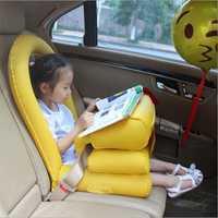 Coche inflable Niño de seguridad de asiento de seguridad del bebé mat plegable de propósito General coche inflable cojín para bebé niños