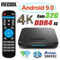 MECOOL KM9 Android 9 TV Box Smart TV Box Android 9,0 4G DDR4 32G ROM 2,4G/ 5G WiFi + KM9 Set Top TV Box Android 8,1 Control de voz