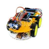 Multifunción robot car kit Bluetooth chasis traje Tracking compatible uno R3 DIY RC Toy robot electrónico con Lcd1602