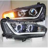La mano derecha de modelo de disco para Mitsubishi Lancer superior LED cabeza de la lámpara Ojos de Ángel 08-YZ V2 tipo