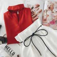 2018 mujeres Set dos piezas Set moda verano Top y Shorts traje de cosecha superior cordón corto Pantalones mujer tracksuits