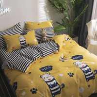 Rosa dibujos animados niña habitación decoración colcha cama sábana funda de almohada y edredón conjunto 3/4 piezas cama suave cómoda ropa de cama conjuntos