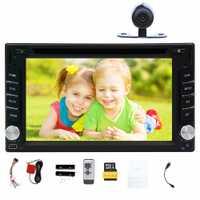 Cámara libre del coche reproductor de DVD con GPS de navegación Bluetooth coche estéreo 8 GB GPS Mapas táctil Digital Radio multimedia AUX SD USB Audio