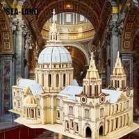 Bricolage enfants jouet de Puzzle en bois 3D pour enfants et adultes St. Paul cathédrale un jouet éducatif Montessori de qualité comme cadeau de passe-temps