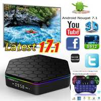 T95Z Plus 3g 32g/2g 16g Android7.1 Amlogic S912 ott tv box Octa core cortex-A53 4 k 5g wifi youtube android tv box
