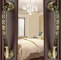 Moderno Hotel de lujo chino antiguo gabinetes de cobre armario puerta cajón manijas (C. C: 240mm, L: 320mm)