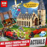 Educativos 16052 16054 Harry Potter la película Legoing 75954 Hogwarts gran pared bloques de construcción conjunto casa modelo juguetes de Navidad regalos