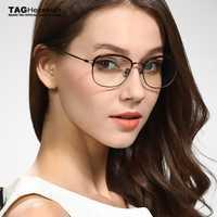 2019 nuevo marco de gafas etiqueta Hezekiah marca mujeres hombres importado metal tendencia de jóvenes Retro gafas diseñador estudiantes universitarios