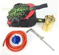 Venta caliente de cuero aire Bellow Sets con una Brass hervidor una antorcha cobre amarillo caldera 8