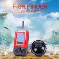 Outlife inteligente portátil buscador de peces con inalámbrico Sonar Sensor eco sirena para el lago de Pesca de Mar buscadores inalámbrico de pesca