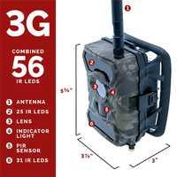 Wireless Trail Caza comandante Cámara 3G en T 1080 p HD W/visión pantalla tarjeta SIM celulares 12 MP 56 LED mejor celular por snyper