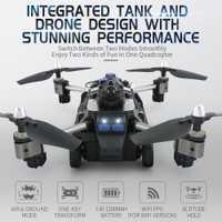 Wifi FPV APP Control plegable RC Drone híbrido aviones Robot juguetes para niños con cámara HD aire tierra modo Quadcopters