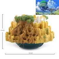 1 piezas bajo el agua de la flor olla Castillo en el cielo Ghibli Mini tanque de peces de acuario Fondo Islande adornos, suministros para mascotas