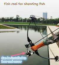 Spincast de Pesca de manejar interior de la rueda de línea Pesca abordar tambor rollo para arco compuesto. disparar a peces carpa arpón Accesorios