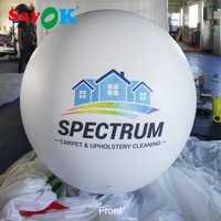 Globo de helio con Logo globo inflable gigante PVC Foil Mylar bolas para las decoraciones del banquete de boda promoción publicidad