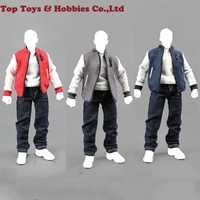 Escala 1:6 1/6 ropa de béisbol TIDE-ZONE traje de béisbol MODELO DE figura de acción juguete Fit 12