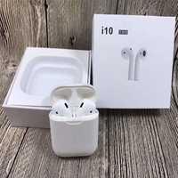 I10 TWS aire vainas Mini auricular Bluetooth inalámbrico auriculares con caja de carga micrófono para Iphone7 8; X Samsung Android Xiaomi I10 Tws