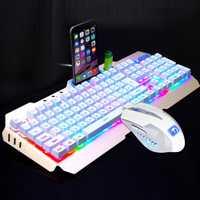 Teclado para juegos ergonómicos Usb retroiluminado LED M938 a la moda Ultra delgado profesional + juegos de Mouse para jugadores + alfombrilla de ratón # ZS